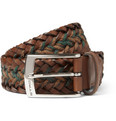 Etro - Woven Leather and Cord Belt