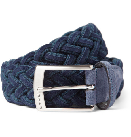 Etro Woven Suede and Cord Belt