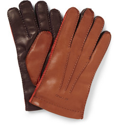 Etro Three-Colour Leather Gloves