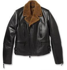 Burberry Prorsum Leather and Shearling Jacket