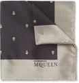 Alexander McQueen - Skull-Patterned Silk Pocket Square
