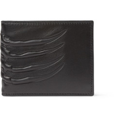 Alexander McQueen Embossed-Leather Money Clip Billfold Wallet
