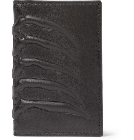 Alexander McQueen Embossed-Leather Card Holder