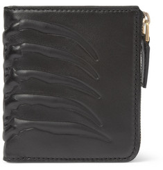 Alexander McQueen Embossed-Leather Zipped Wallet