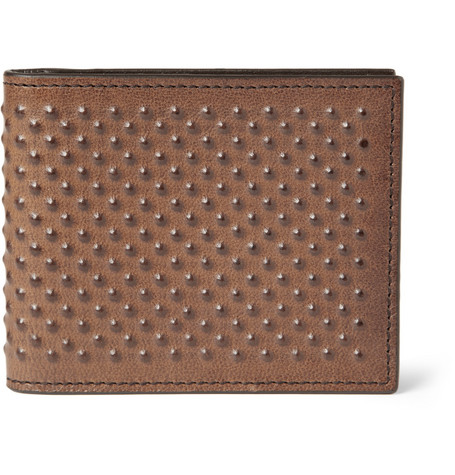 Alexander McQueen Studded-Leather Wallet