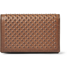 Alexander McQueen Studded-Leather Card Holder