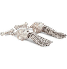 Alexander McQueen Tasselled Silver-Coated Cufflinks