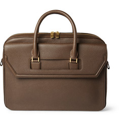 Alexander McQueen Full-Grain Leather Holdall Bag