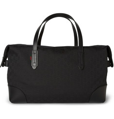 Gucci Leather-Trimmed Canvas Holdall Bag