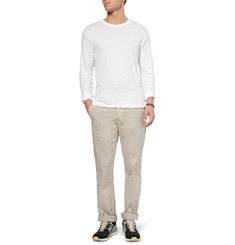 James Perse Long-Sleeved Linen and Cotton-Blend T-Shirt