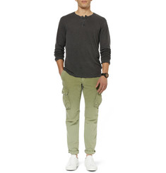 James Perse Long-Sleeved Linen and Cotton-Blend Henley T-Shirt