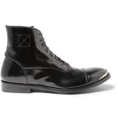 Metal Toe Cap Leather Boots