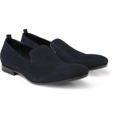Alexander McQueen Brushed-Suede Slippers