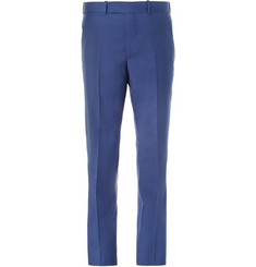 Alexander McQueen Blue Slim-Fit Wool and Mohair-Blend Suit Trousers