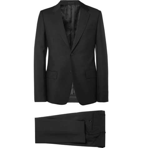 Alexander McQueen Black Wool and Mohair-Blend Suit