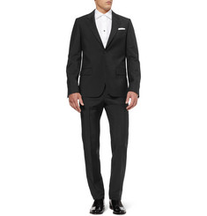 Alexander McQueen Slim-Fit Black Wool and Mohair-Blend Suit