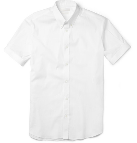 Alexander McQueen Slim-Fit Short-Sleeved Cotton-Blend Shirt
