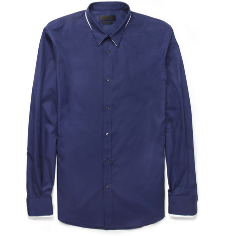 Alexander McQueen Double-Collar Cotton Shirt