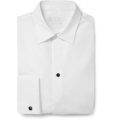 Alexander McQueen White Skull Cufflinks Cotton-Poplin Shirt