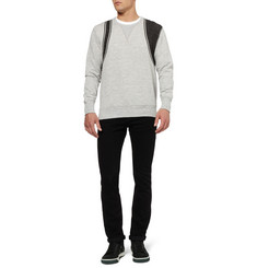 Alexander McQueen Harness-Print Loopback Cotton-Blend Sweatshirt