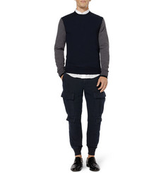 Neil Barrett Cotton And Linen-Blend Cargo Trousers