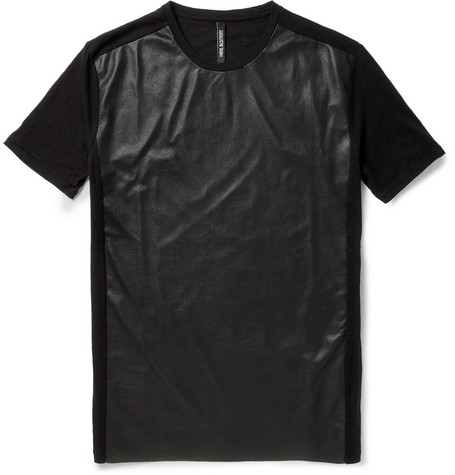 Neil Barrett Leather-Effect JerseyT-Shirt