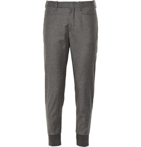 Neil Barrett Slim-Fit Wool-Blend Flannel Trousers