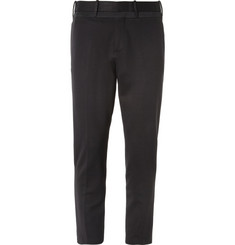 Neil Barrett Cropped Tapered Jersey Tuxedo Trousers