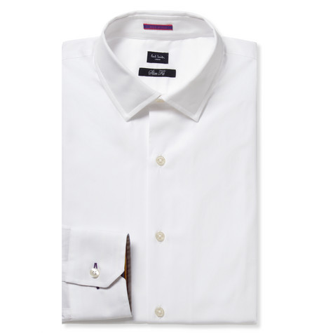 Paul Smith London White Slim-Fit Cotton Shirt
