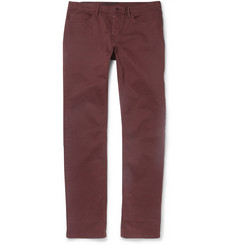 Burberry Brit Brushed Regular-Fit Cotton-Blend Trousers