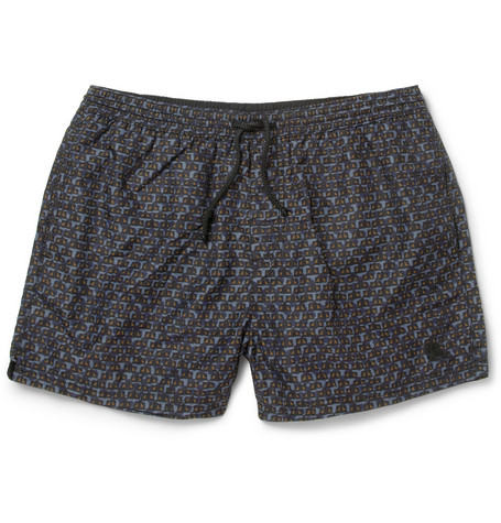 Burberry Brit Geometric-Print Mid-Length Swim Shorts