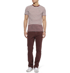 Burberry Brit Striped Jersey Crew Neck T-Shirt