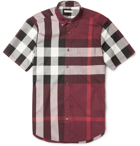 Burberry Brit Slim-Fit Plaid Cotton Shirt