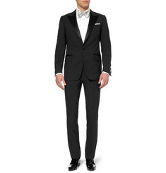 Lanvin Black Slim-Fit Wool Tuxedo