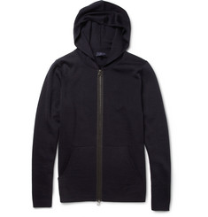 Lanvin Knitted Merino Wool Hooded Cardigan