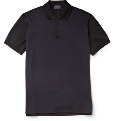 Lanvin Contrast-Front Cotton-Piqué Polo Shirt