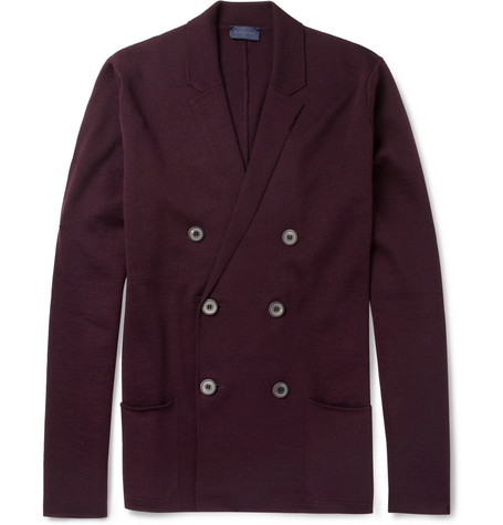 Lanvin Double-Breasted Merino Wool Cardigan