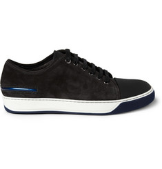 Lanvin Suede and Rubber Low Top Sneakers