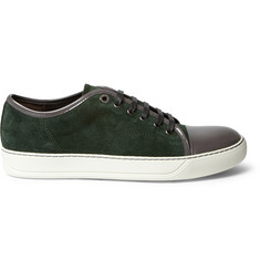 Lanvin Suede and Patent-Leather Sneakers