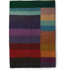 The Elder Statesman Panelled Cashmere Blanket