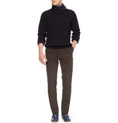 Brioni Button-Collar Cashmere Sweater