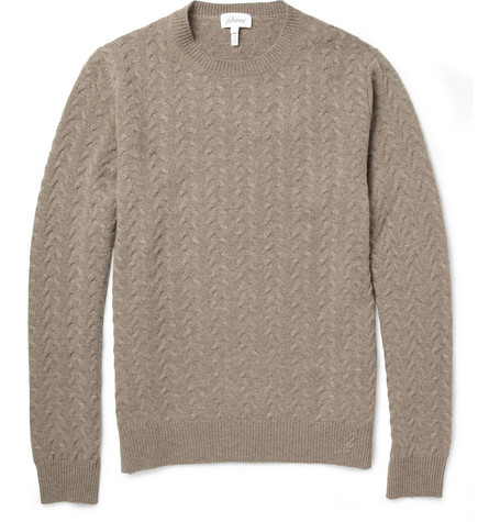 Brioni Cable-Knit Cashmere Sweater