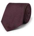 Brioni Patterned Woven-Silk Tie