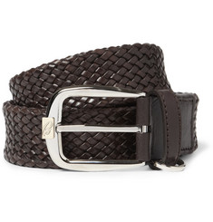 Brioni Woven Leather Belt