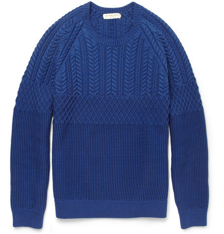 Burberry London Cable-Knit Cotton Sweater
