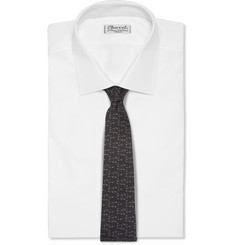 Burberry London Patterned Silk and Wool-Blend Tie