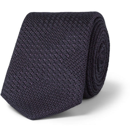 Burberry London Woven Check Silk Tie