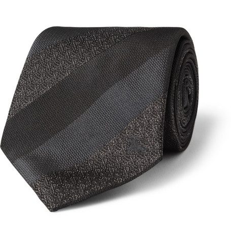 Burberry London Striped Silk Tie