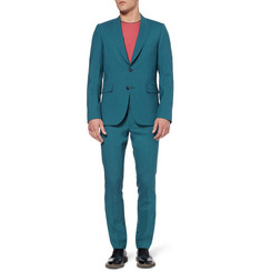 Paul Smith Teal Slim-Fit Wool Suit