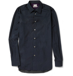 Paul Smith Slim-Fit Panelled Pin-Dot Cotton Shirt